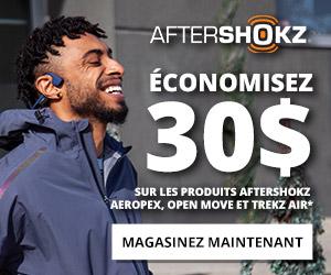 Economisez 30 $ sur les Aftershokz sélectionnés
