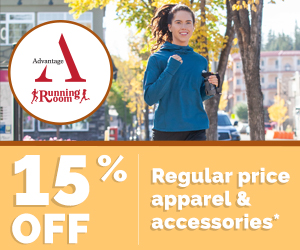 Advantage members save 15% on regular price apparel and accessories